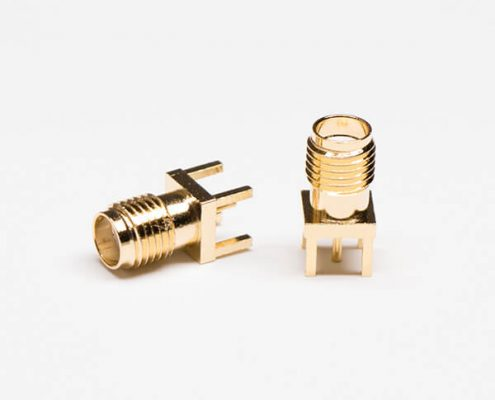 SMA Connector Gold Plated Female Straight PCB Mount Through Hole
