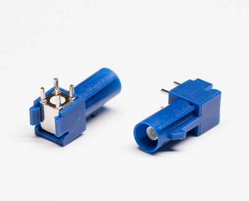 FAKRA Male Connector C Type Blue PCB Mount Plug Through Hole