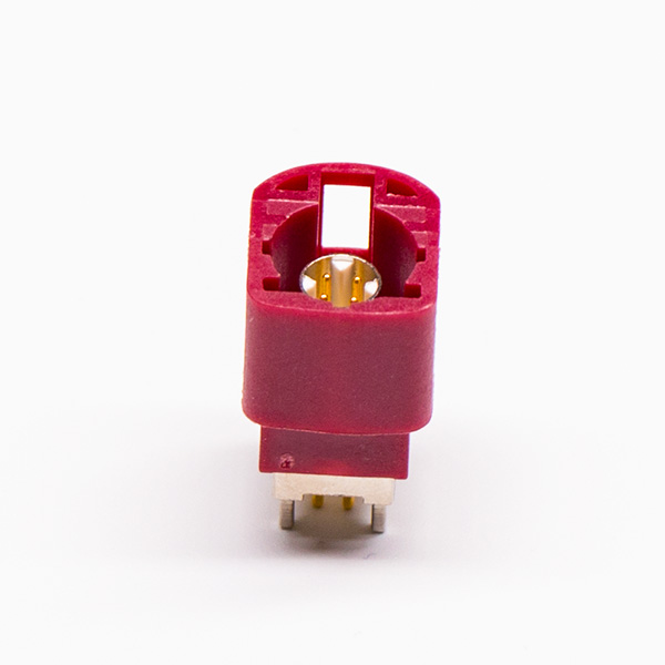 Offer HSD LVDS 180 Degree 4 Pin Male Red Through Hole or PCB Mount
